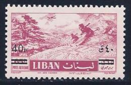 Lebanon, Scott # C271 MNH Skiing, Surcharged, 1959 - Lebanon