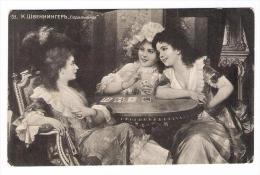 Card Players Russia  Postcard Circa 1910 - Cartes à Jouer