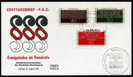 32613) BRD - Michel 1105 / 1107 - FDC - Grundgedanke Der Demokratie I - FDC: Enveloppes
