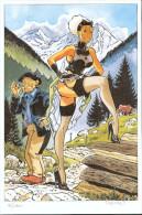 No PAYPAL !! : Meynet XL Inédit Pin Up Mirabelle Et Fanfoué En Montagne ,Ex-Libris 180 Ex N°/Signé NEUF - Ex-libris