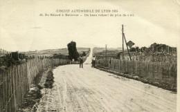 Circuit Automobile De Lyon 1924 Du Bâtard à Bellevue Un Beau Ruban ! De Plus De 4 Kilomètres Deux Hommes - Autres