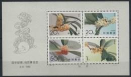 1995 Cina, Fiori, Foglietto, Serie Completa Nuova (**) - 1949 - ... République Populaire