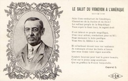 Poème - Le Salut Du Vigneron à L'Amérique - Roosevelt - Oorlog 1914-18
