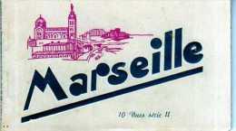 13 MARSEILLE Carnet De 10 Vues Serie 2, Cartes Dentelées, Noir Et Blanc - Marseille