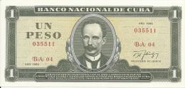 CUBA  1 PESO 1988 UNC P 102 d