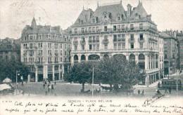 SUISSE GENEVE PLACE BEL AIR CARTE PRECURSEUR CIRCULEE 1903 - GE Ginevra