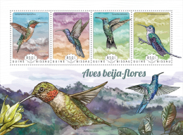 gb14715a Guinea Bissau 2014 Shell Birds Hummingbirds s/s