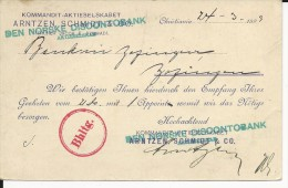 NORVEGE - 1899 - CARTE ENTIER Avec REPIQUAGE PRIVE De KRISTIANIA Pour ZOFINGEN (SUISSE)