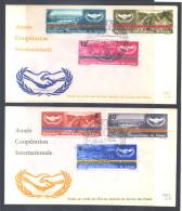 """RDC 599/604 Sur 2 FDC   """"1965 - Année Coopération Internationale """" - FDC"""