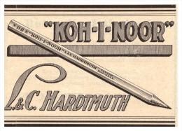 Original Werbung - 1927 - KOH-I-NOOR , Stifte , L.&C. Hardtmuth !!! - Schreibgerät