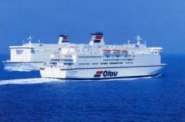 03838 - Ferry Fährschiffe OLAU BRITANNIA Und OLAU HOLLANDIA Zwischen Sherness Und Vlissingen - Ferries