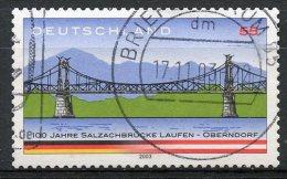 Germany 2003 55c Salzach River Bridge Issue #2245a  SON Cancel - [7] Federal Republic