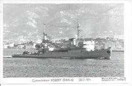 "CP PHOTO:  "" COMMANDANT ROBERT GIRAUD "" -  A 755  -  22-2-1971  (  -   BATEAU DE GUERRE   ) - Guerre"
