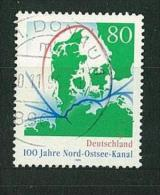 GERMANIA - GERMANY ANNO 1995 The 100th Anniversary Of The Kieler Canal - CANCELLED STAMPS - - Used Stamps