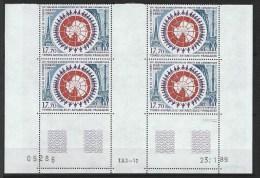 """TAAF Coins Datés Aerien YT 109 """" Traité Antarctique """" Neuf** Du 23.1.89 - Autres"""