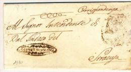 1830 SICILIA COMUNE DI SCORDIA FRANCHIGIA X SIRACUSA  CON TESTO - Italia