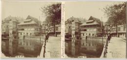 """STRASBOURG PHOTO STÉRÉOSCOPIQUE STEREO : """" Canal Et Vieilles Maisons En Bois """" - Stereoscopic"""