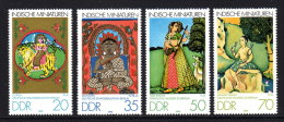 DDR 1979 ** Durga, Mahavira, Todi Ragini, Asaviri Ragini /  Miniaturen - Kompletter Satz MNH - Boeddhisme