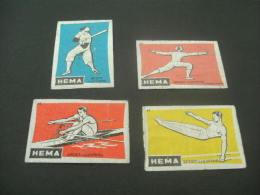 108- Hinged Netherlands -Nederland- Pays-bas  -   Hema - Sport Lucifers - Matchbox Labels