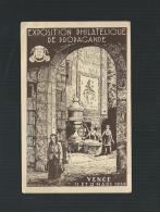 FRANCE  VENCE EXPOSITION PHILATELIQUE DE PROPAGANDE  11-12/3/1939 PORTE ET FONTAINE DE PEYRA AVEC CACHETS DE L´EXPO - France
