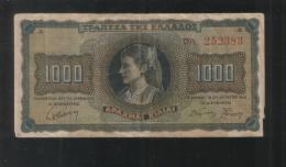 GREECE 1000 Drahmes 1942 - Greece