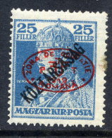 DEBRECEN 1919 25f Karl Köztarsasag With Red Overprint LHM / *   Michel 59a - Debreczen
