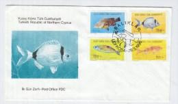 Turkish Republic Of Northern Cyprus FISH FDC 1996 - Fische