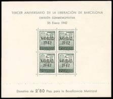 Barcelona 41 (*) HB.Liberación. 1942. Sin Goma - Barcelona