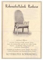 original Werbung - 1927 -  Rohrm�belfabrik Rothrist , Geschwister Severin in Z�rich , Schuler in Winterthur !!!