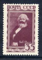 SOVIET UNION 1933  Marx Death Anniversary 35 K. MH / *.  Michel 426 - Unused Stamps