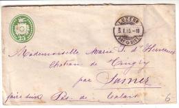 Entier Postal Suisse 25 Ct Vert, Luzern - Samer Pas De Calais (5.1.95) - Ganzsachen