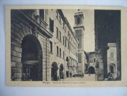 1944  ROVIGO PALAZZO RONCALI E TORRE CIVICA   ANIMATA - Rovigo