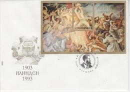 Macedonia 1993 Uprising M/s FDC (F2686) - Macedonië