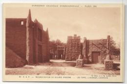 CP, 75, PARIS, Exposition Coloniale Internationale - 1931, Reconstitution Du Village Indigène, Vierge, Ed : BRAUN & Cie - Expositions