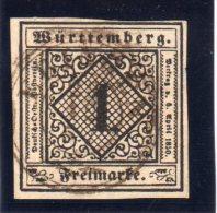 WURTEMBERG : N° 1 . OBL .1851 . TB - Wurttemberg