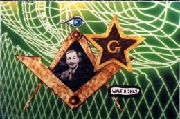 WALT DISNEY  -  ILLUSTRATION DE J. LARDIE  -  TIRAGE LIMITE A 100 EXEMP.-  EDITIONS DU TRIANGLE  -  FRANC MACONNERIE - Lardie