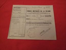 FORCES MOTRICES DE LA SÉLUNE À AVRANCHES (50300). REÇU DATÉ 1922. - France