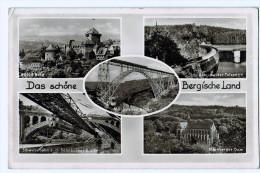 Das Schöne Bergische Land  ,  Carte Photo Multivues  1952 - Bergisch Gladbach
