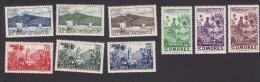 Comoro Islands, Scott # 30-38, Mint Hinged, Scenes Of Comoro Islands, Issued 1950 - Comoros