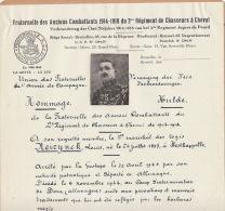 Document Manuscrit Anciens Combattants 2èm Régiment Chasseur à Cheval Neirynck Westkappelle Gestapo Doza - Documents