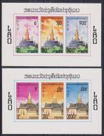 LAOS   NON DENT/IMPERF  MONUMENTS   Yvert  N° BF 50/1  **MNH - Laos