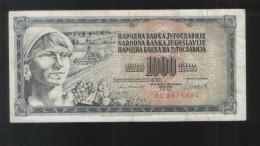 YUGOSLAVIA 1000 Dinara 1981 - Yugoslavia