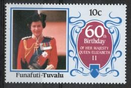Tuvalu Funafuti 1986 - Regina Elisabetta II, Queen Elizabeth II MNH ** - Tuvalu