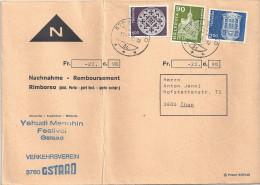 "NN Brief   ""Yehudi Menuhin Festival, Gstaad""               1976 - Suisse"