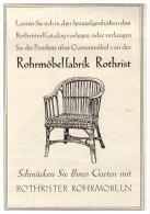 Original Werbung - 1927 -  Rohrmöbelfabrik Rothrist In Zürich , Gartenmöbel !!! - Meubles