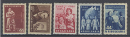 Lot Bulgarien Michel No. 948 - 949 , 960 , 961 , 962 ** postfrisch