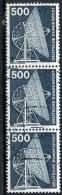Germany 1975 500pf Radio Telescope Issue #1192 Strip Of 3 - [7] Federal Republic