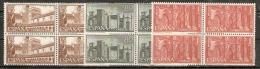 MONASTERIO DE GUADALUPE EDIFIL 1250/2** BLOQUE DE 4 - 1951-60 Nuevos & Fijasellos