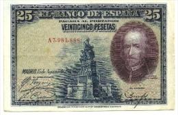 1928 - Spagna 25 Pesetas^ - [ 1] …-1931: Erste Ausgaben (Banco De España)