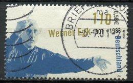Germany 2001 110pf Werner Egk Issue #2127 SON Cancel - [7] Federal Republic